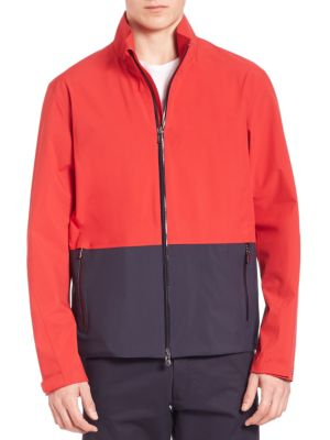 Z Zegna Colorblocked Jacket In Red-blue