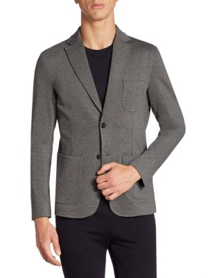 Z Zegna Regular-fit MÉlange Techno Jersey Jacket In Gray