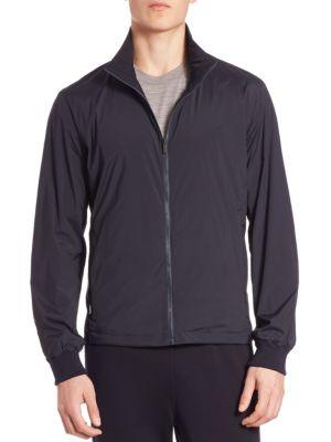 Z Zegna Reversible Nylon & Techmerino Wool Jacket In Navy