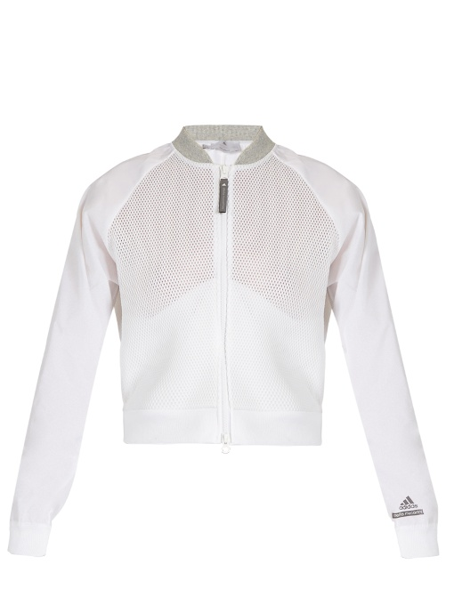 Barricade Zip-though Performance Mesh Jacket In White Multi