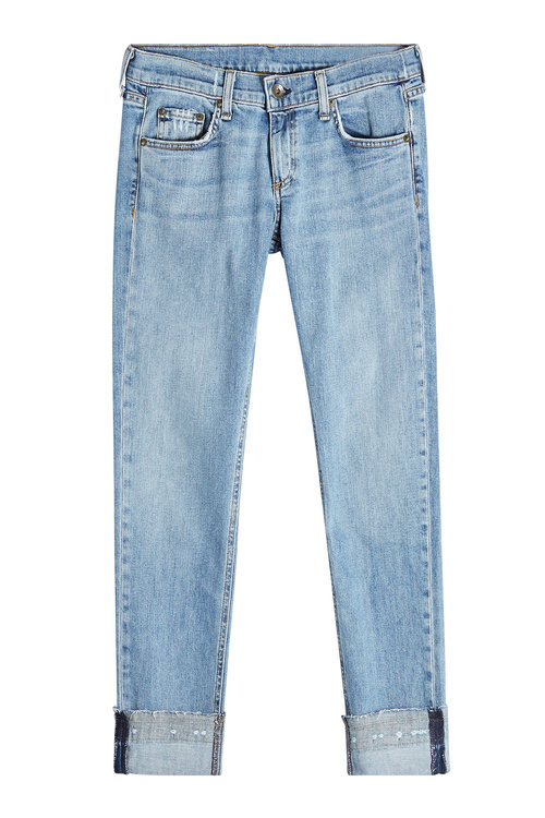 Rag & Bone Cropped Jeans In Blue