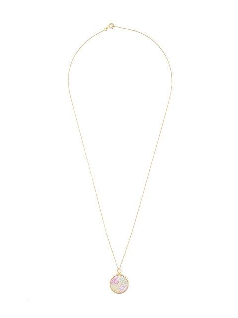 Aurelie Bidermann Baby 'chivor' Sapphire Necklace In Metallic