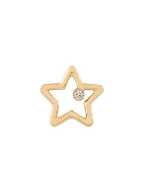Aurelie Bidermann Star & Diamond Earring In Metallic