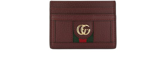 Gucci Ophidia Cardholder In Bordeaux
