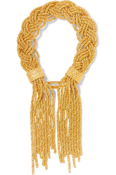 Aurelie Bidermann 18k Yellow Gold-plated Rope Bracelet