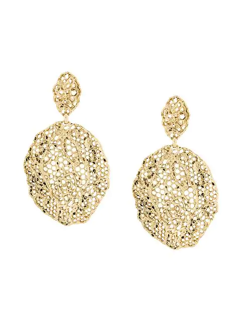 Aurelie Bidermann Dentelle Gold-plated Earrings In Metallic