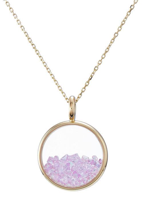 Aurelie Bidermann Aur ©lie Bidermann 18kt Yellow Gold Baby Chivor Necklace With Sapphires In Pink
