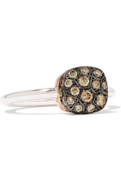 Pomellato Nudo 18-karat Rose Gold Diamond Ring