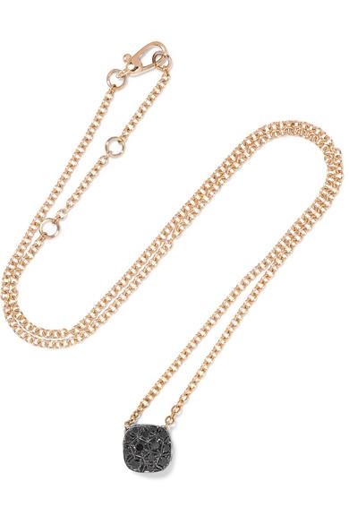 Pomellato Nudo 18-karat Rose Gold Diamond Necklace In Red