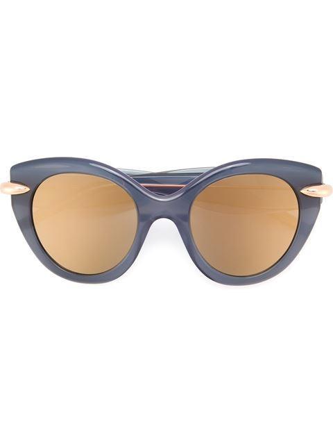 Pomellato Eyewear Cat Eye Sunglasses - Blue