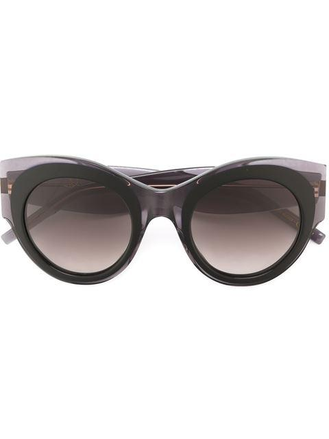 Pomellato Eyewear Oversized Cat Eye Sunglasses - Black