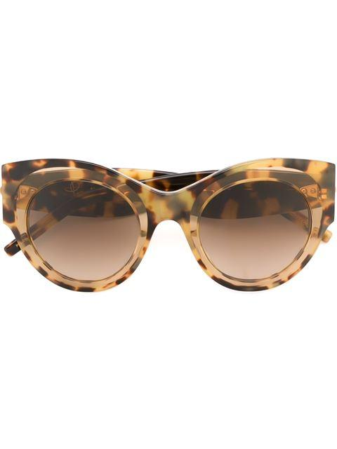 Pomellato Eyewear Oversized Round Frame Sunglasses - Brown