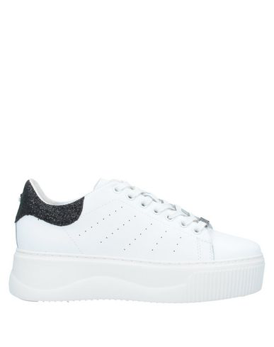 Cult Leather Perry Sneaker In White/black