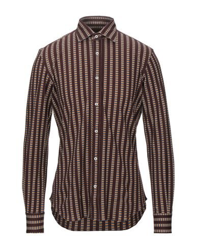 Luchino Camicie Patterned Shirt In Cocoa