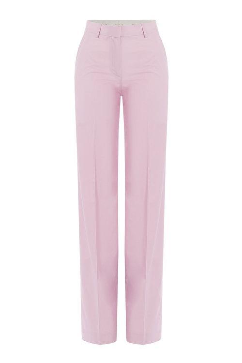 Paul & Joe Wide Leg Wool Pants In Pink
