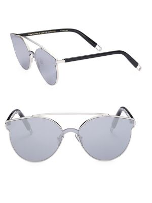 Gentle Monster Tilda Swinton X  Trick Of The Light 61mm Mirrored Sunglasses In Silver