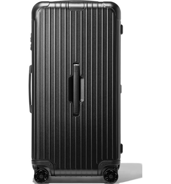 Rimowa Essential Trunk Plus Large Suitcase In Black - Polycarbonate - 31,5x17x14,8 In Matte Black