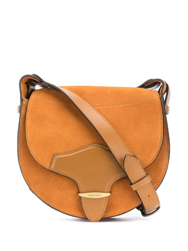 Isabel Marant Botsy Leather And Suede Cross-body Bag In Brown