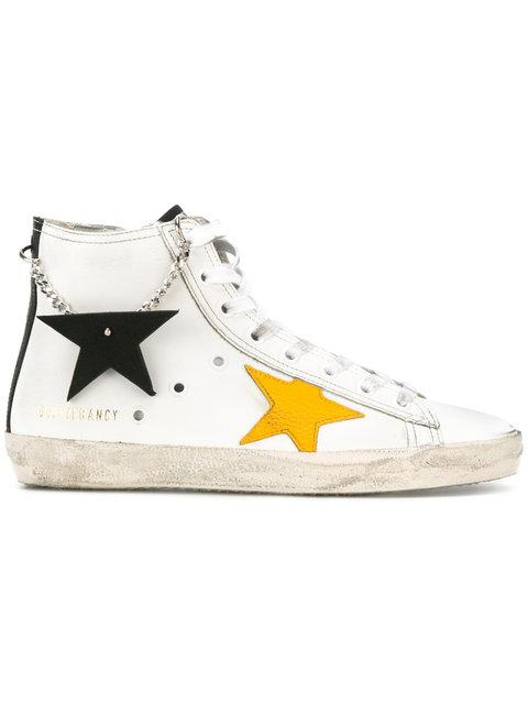 Golden Goose Francy Hi-top Sneakers In White