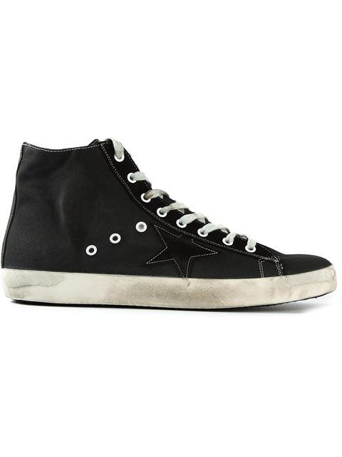 Golden Goose Men's Shoes High Top Trainers Sneakers Francy In Black