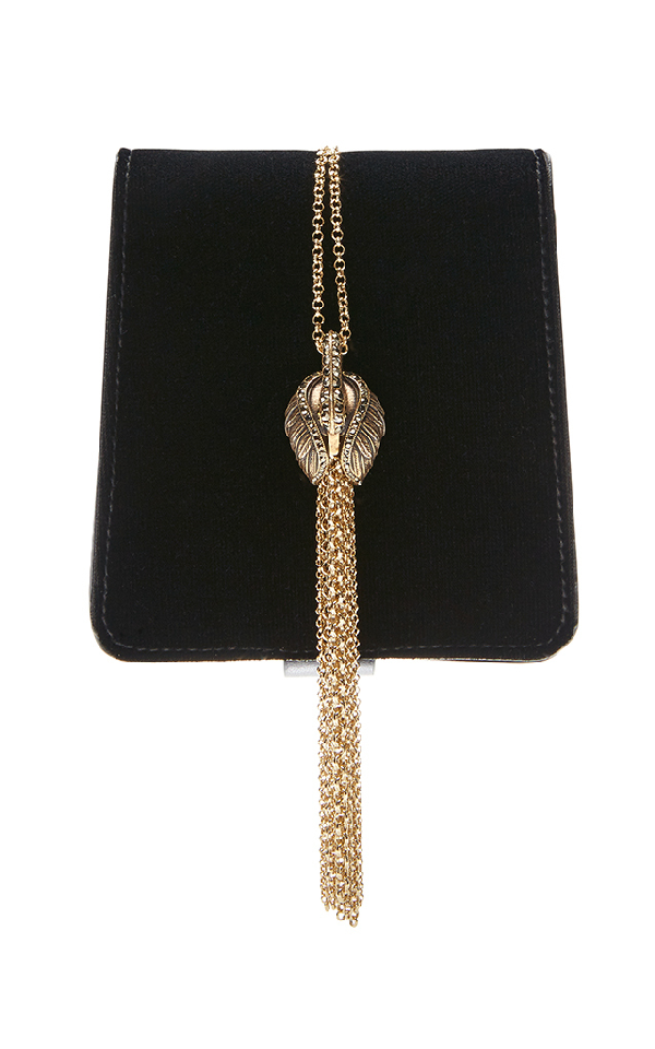 Lanvin Discret Swan-embellished Velvet Bag In Black