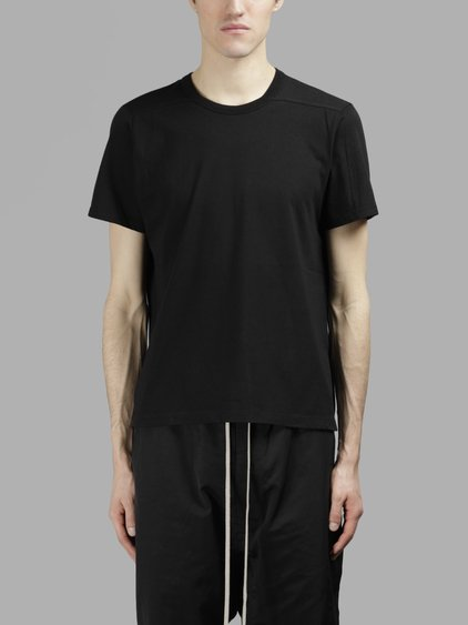 Rick Owens Men's Black Ruffle T-shirt