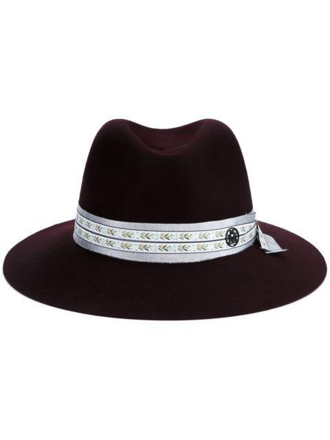 Maison Michel 'henrietta' Floral Ribbon Hare Furfelt Fedora Hat