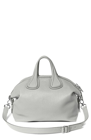 Givenchy 'medium Nightingale' Leather Satchel In Pearl Grey