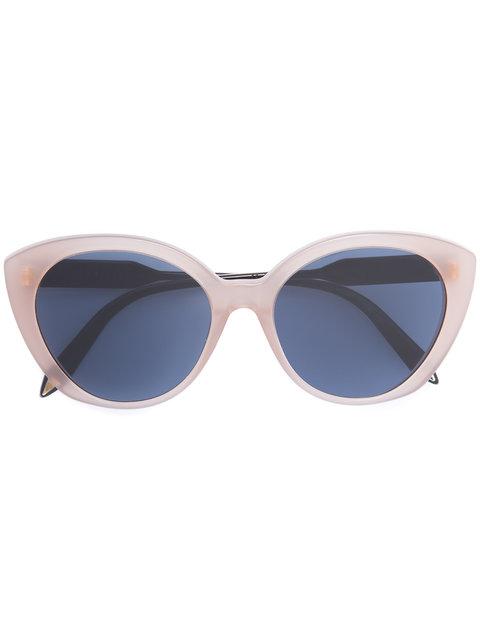 Victoria Beckham Cat Eye Sunglasses In Neutrals