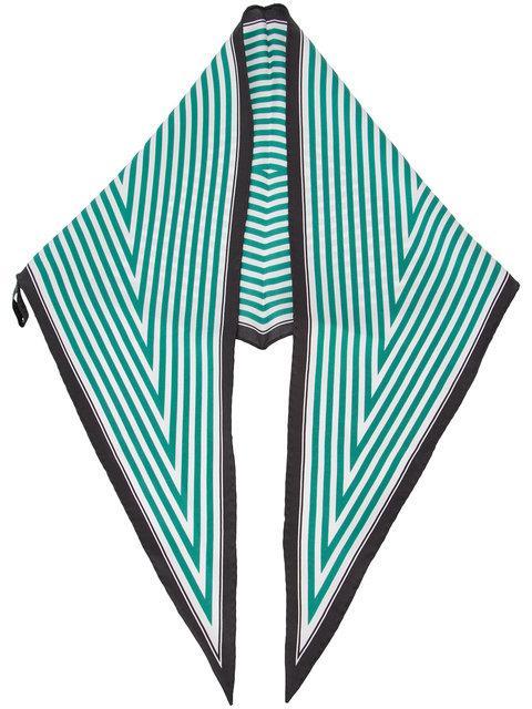 Haider Ackermann Diamond Stripe Scarf - Green