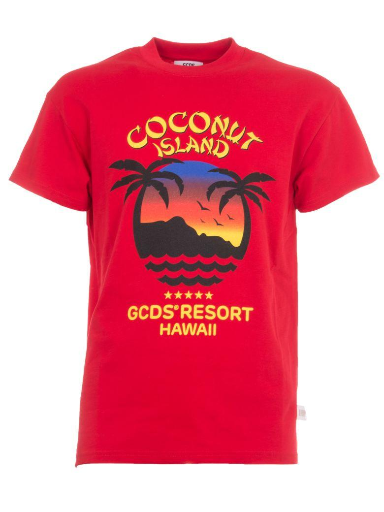 Gcds Coconut Island T-shirt In Red