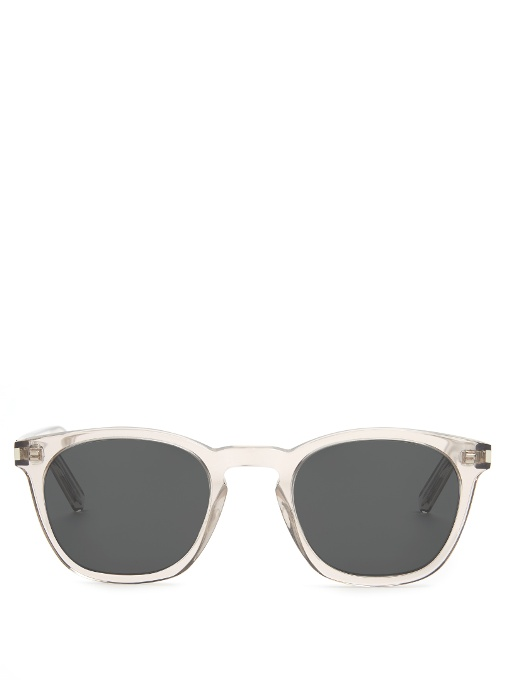 Saint Laurent D-frame Acetate Sunglasses In Nude Multi
