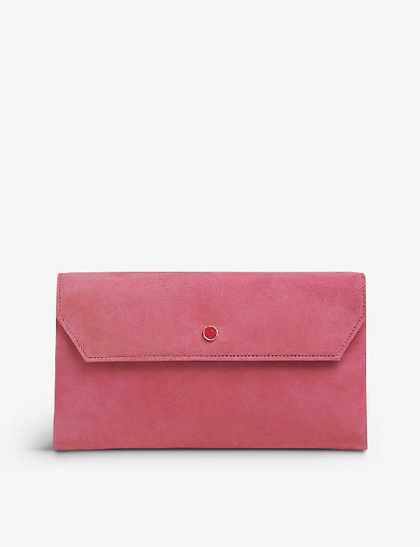 Lk Bennett Dora Suede Cross-body Clutch