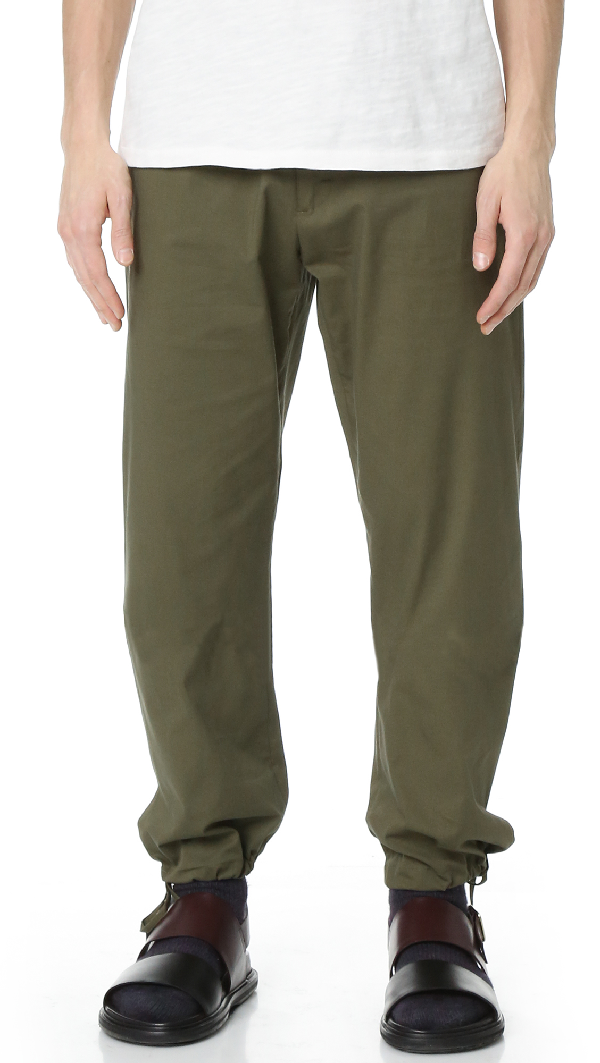 Ports 1961 Casual Pants In Military Green