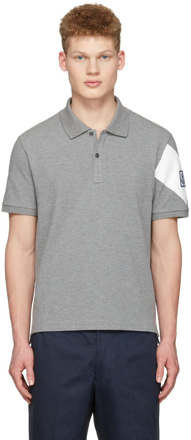 Moncler Gamme Bleu Logo Patch Polo Shirt