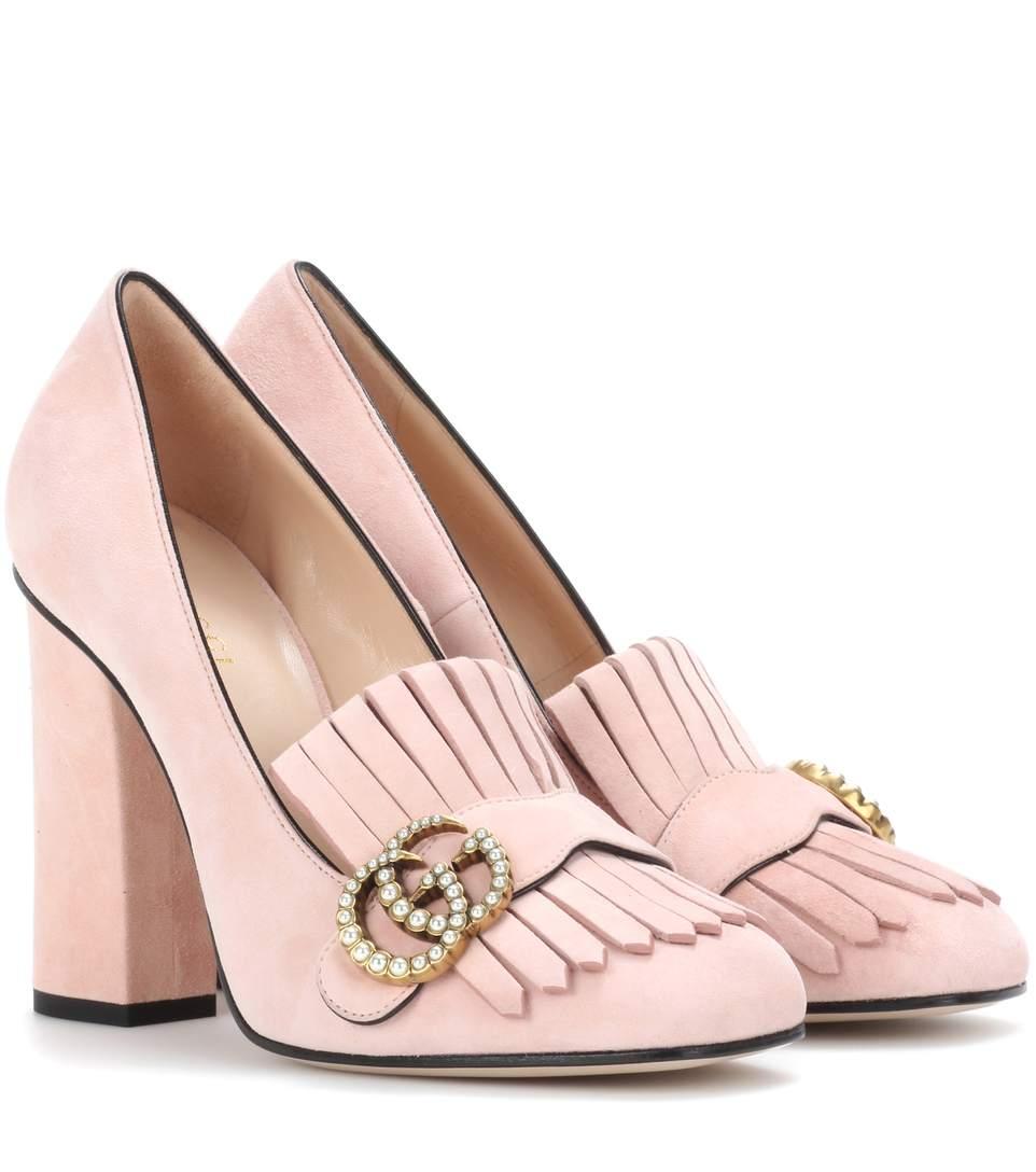 adb77e18e Gucci Suede Loafer Pumps In Perfekt Piek | ModeSens