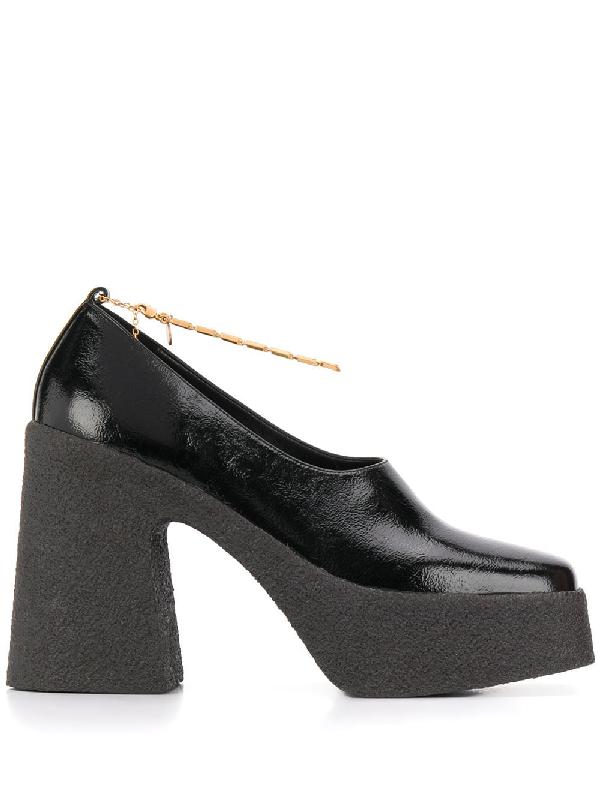 Stella Mccartney Ankle-chain Platform Pumps In Black