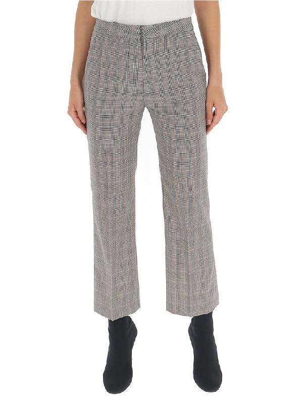 Stella Mccartney Carlie Checked Pants In Grey
