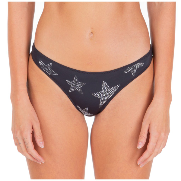 Stella Mccartney Studded Stars Bikini Briefs In Black