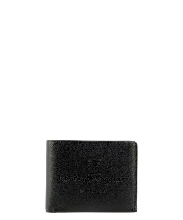 Salvatore Ferragamo Men's 0734005 Black Leather Wallet