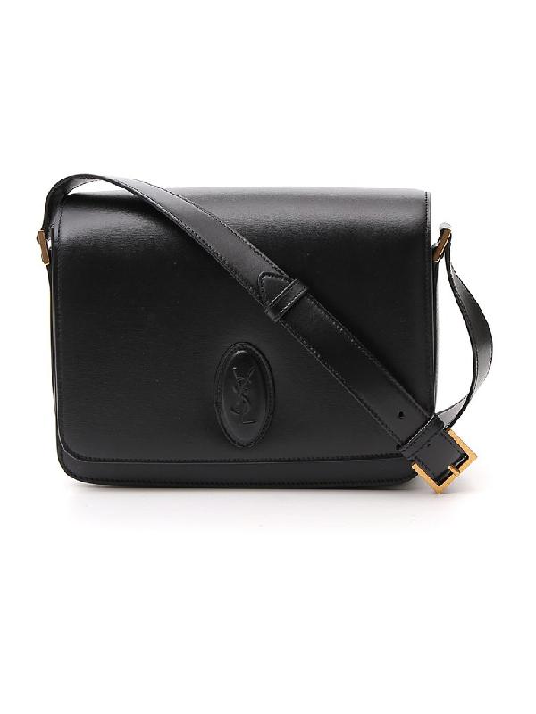 Saint Laurent Le 61 Medium Saddle Bag In Black