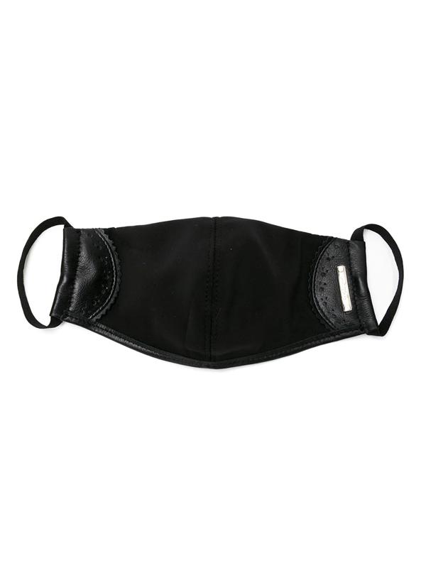 Sarah Chofakian Logo Plaque Face Mask In Black