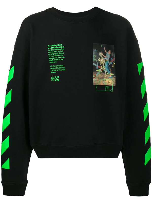 Off-white Black Pascal Painting Long Sleeve T-shirt In Black/multi