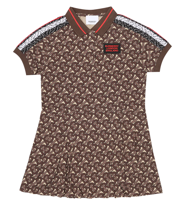Burberry Kids Tb Monogram Polo Shirt Dress (3-12 Years) In Brown