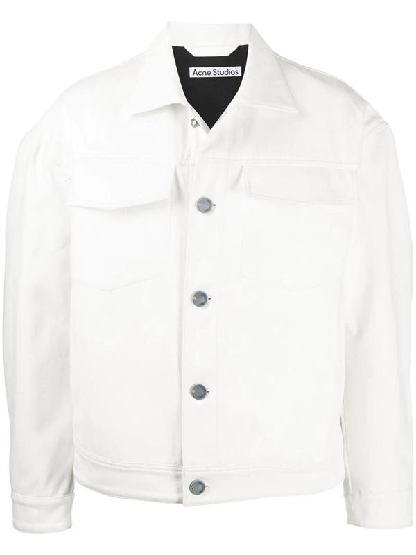 Acne Studios Cotton Twill Jacket Off White