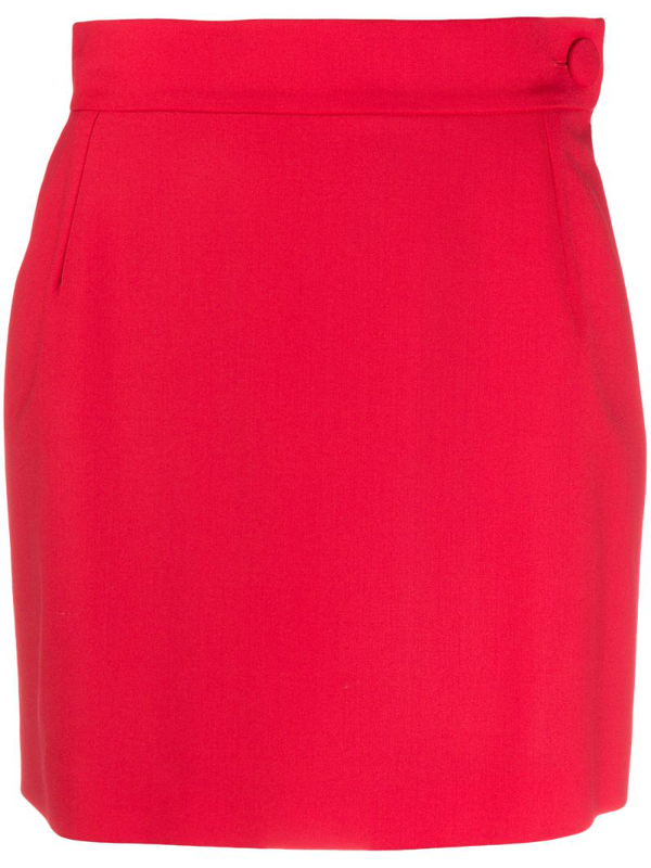 Attico High-waisted Mini Skirt In Red