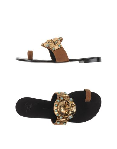 Giuseppe Zanotti Toe Strap Sandals In Khaki