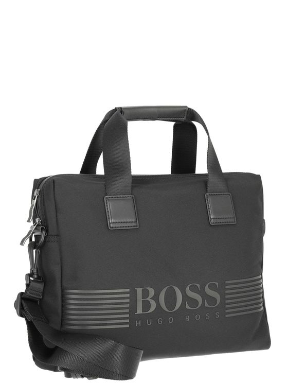 Hugo Boss Document Bag With Logo In Black