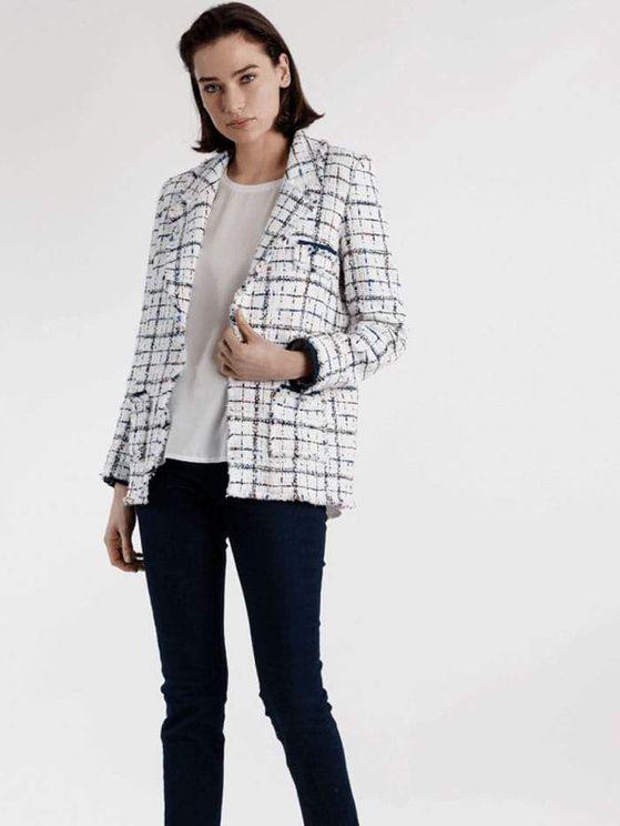 Weill Long Sleeve Long Jacket Carolyn Jean 121015 In White