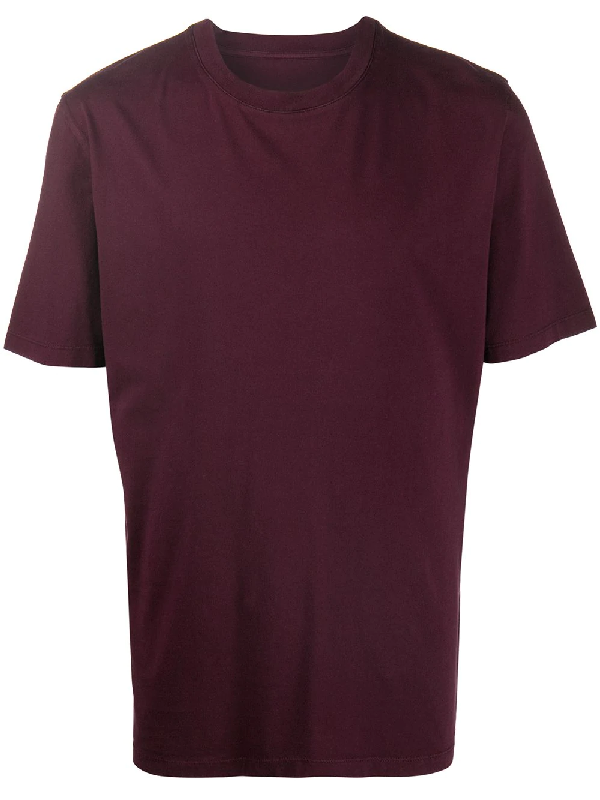 Maison Margiela Garment-dyed Cotton-jersey T-shirt In Red